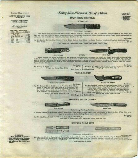 Marble's knives ad-circa 1913