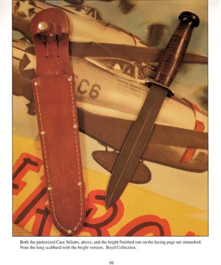 WW2 CASE stiletto blued blade